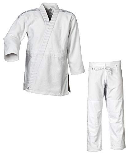 adidas Judo-Anzug Contest weiß/Silberne Streifen, J650 (175)