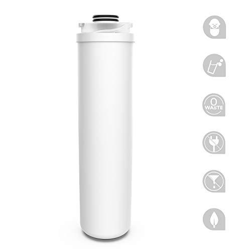 Filtro de agua para debajo del fregadero SimPure (V5), con alta capacidad de 3000 galones, PP incorporado + filtro de agua de carbón activado para eliminar el 99,99% de plomo, cloro, mal sabor y olor.