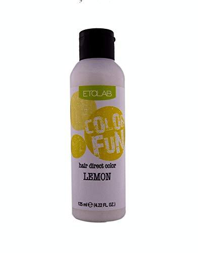 Etolab - Color de pelo semipermanente, amarillo, 3x125 ml