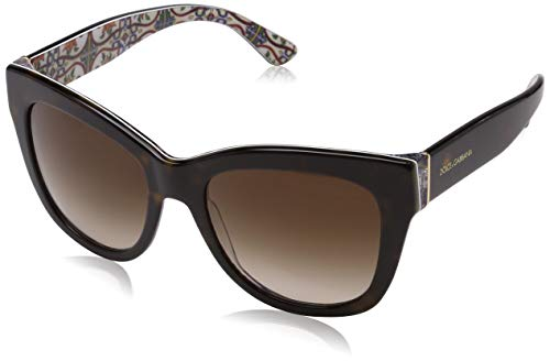 Dolce & Gabbana 0DG4270 Gafas de sol, Havana On New Maiolica, 55 para Mujer