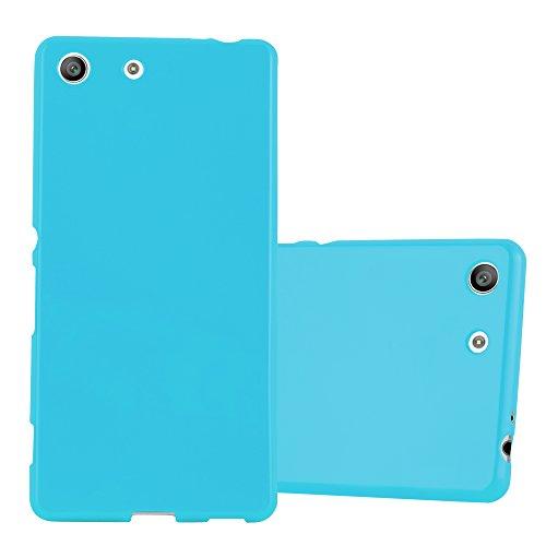 Cadorabo Hülle für Sony Xperia M5 in Jelly HELL BLAU – Handyhülle aus flexiblem TPU Silikon – Silikonhülle Schutzhülle Ultra Slim Soft Back Cover Hülle Bumper