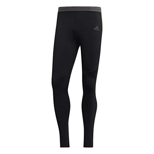 adidas Men's Running Response Climawarm Tights, Black/Black, Small
