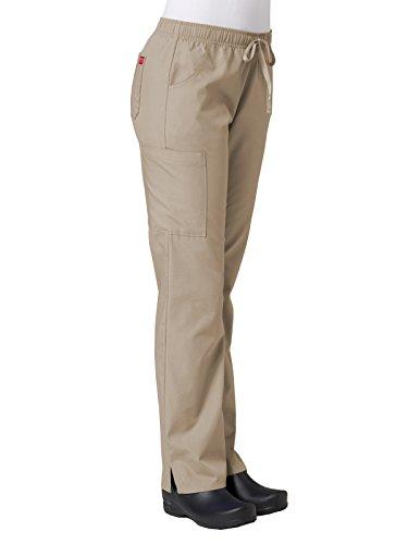 Red Panda Maevn Women's Full Elastic Cargo Pant(Khaki, Small Tall)