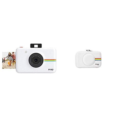 Polaroid Snap - Cámara Digital instantánea, tecnología de impresión Zink Zero Ink, 10 MP, Bluetooth + PLSNAPEVAW - Funda (Funda, Polaroid, Polaroid Snap Instant Print Digital Camera, Blanco)