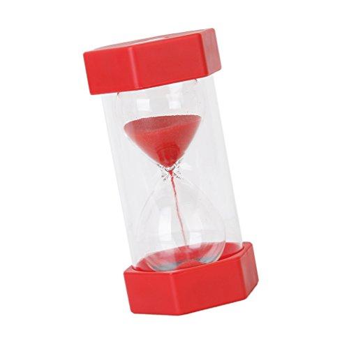 1/15/20/30/45/60 Minuten Sechseckig Sandglass Sanduhr Dekoration Timer für Kochen, Maske, Yoga, Spielen, Zähneputzen - Rot 60 Minuten