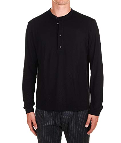 PAOLO PECORA Luxury Fashion Mens T-Shirt Winter Black