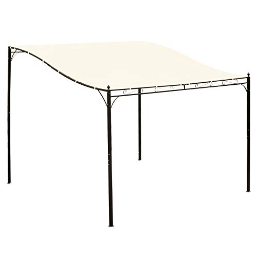 Outsunny 10' x 10' Steel Outdoor Pergola Gazebo Patio Canopy with Durable & Spacious Weather-Resistant Design, White