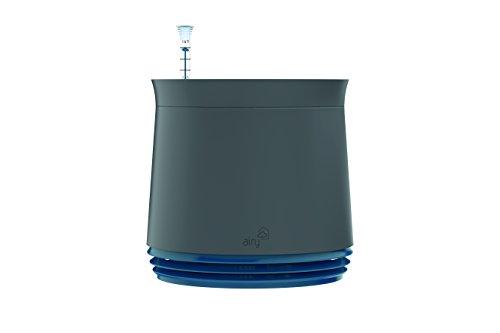 AIRY Pot - Luftreiniger Blumentopf für Allergiker - Patentierter Pflanzen-Topf als natürlicher Raumluftfilter gegen Schadstoffe, Haus-Staub, Pollen, Geruch (Blau, Gen. 1)
