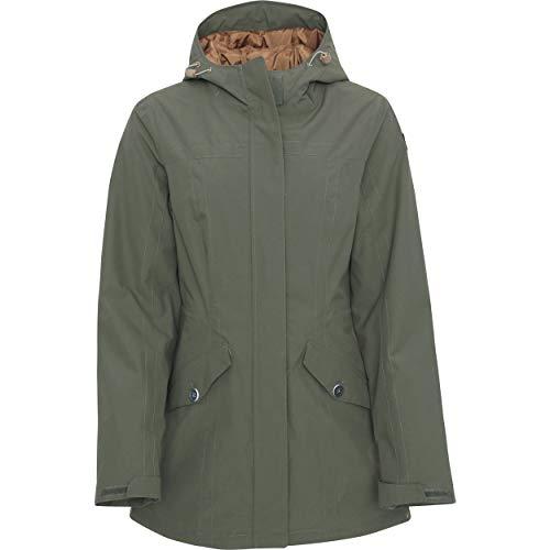 Damen Parka Icepeak Oliv Größe 36 38 40 42 Damen Jacke Mantel mit Kapuze und Reißverschluss (40)