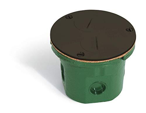 Flush Mounted Round Floor Box (Dual Screw Plugs   Power, Dark Bronze)