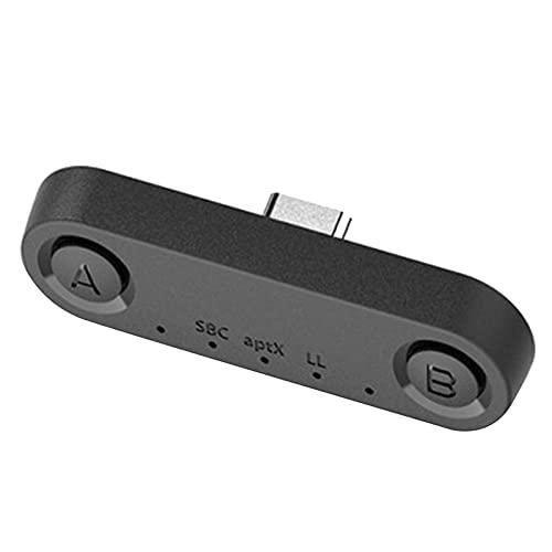 H HILABEE Bluetooth 5,0 transmisor de Audio Adaptador de USB C Baja latencia para Interruptor/Lite/PS4