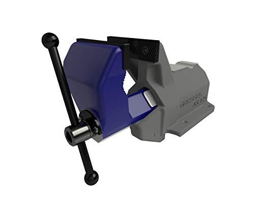 GRESSEL Schraubstock vorwärts öffnend (Typ AX, Breite 125mm, mit Amboss, Spannweite 0-135mm, Backen austauschbar, gehauen und glatt)