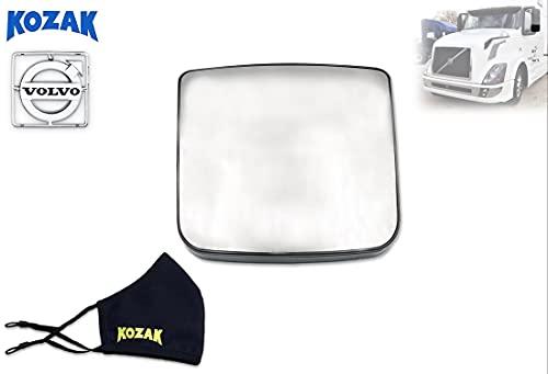 KOZAK Espejo de puerta convexa de gran angular para Volvo VNL Trucks PLUS Logo...