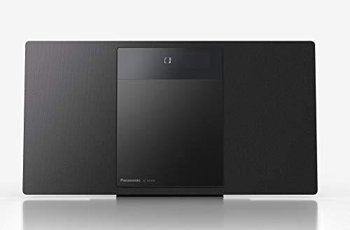 Panasonic SC-HC410EG-K - Microcadena para Hogar (40 W, Space Tune By Technics, Bluetooth, USB Dual, FM, AUX 3.5 mm, Instalable en Pared, Elegante y Minimalista, Sonido Envolvente) Color Negro