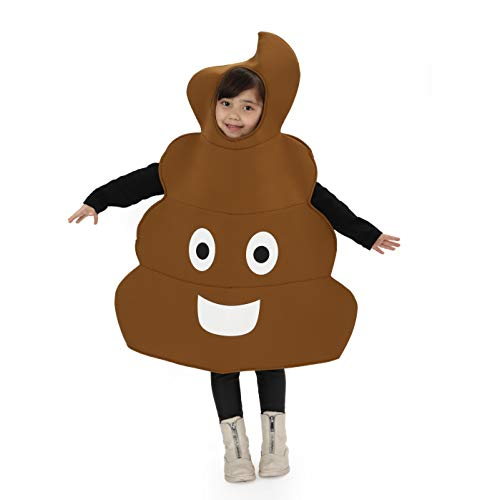 SPUNICOS Kids Unisex Poop Costume,Kids Halloween Easy Dress Up One Size Fit for 6-10years