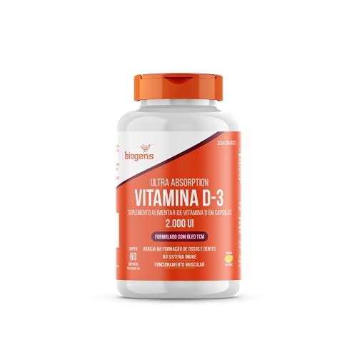 Vitamina D3 2000ui 60 Capsulas Gel Em Óleo Tcm (mct) biogens