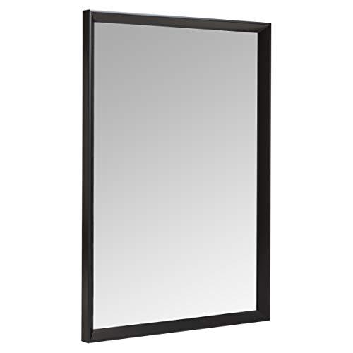 Amazon Basics Espejo para pared rectangular, 50,8 x 71,1 cm - marco biselado, negro