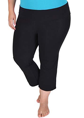 Stretch is Comfort Women's Plus Size Capri Yoga Pants Black 5X