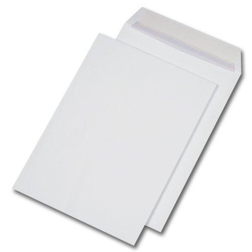 25 Stk. Versandtaschen C4 weiß, ohne Fenster, selbstklebend (229 x 324 mm)