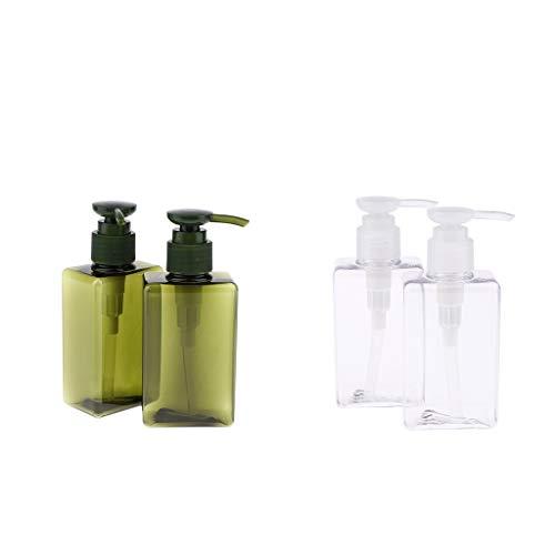 SDENSHI 4 Pièces Flacon Spray Vide 150ml, Pompe Distributeur Savon Liquide Bouteilles Vide pour Cuisine Salle de Bain
