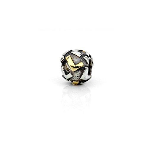 Akki Buchstabe Charms Beads für Armband Kette Angebot Perle Kompatibel mit Starter Alle Gold Silber Schmuck Letter Sternzeichen Liebe L