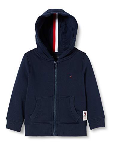 Tommy Hilfiger Jungen Essential Hooded Fullzip Set 1 Kapuzenpullover, Blau (Blue Cbk), (Herstellergröße: 80)