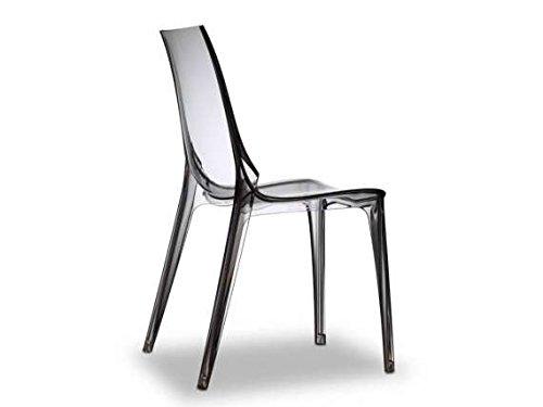 Scab - Vanity Chair Silla apilable, color transparente ahumado