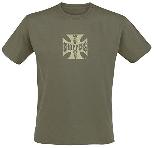 West Coast Choppers Iron Cross T-Shirt Khaki XL