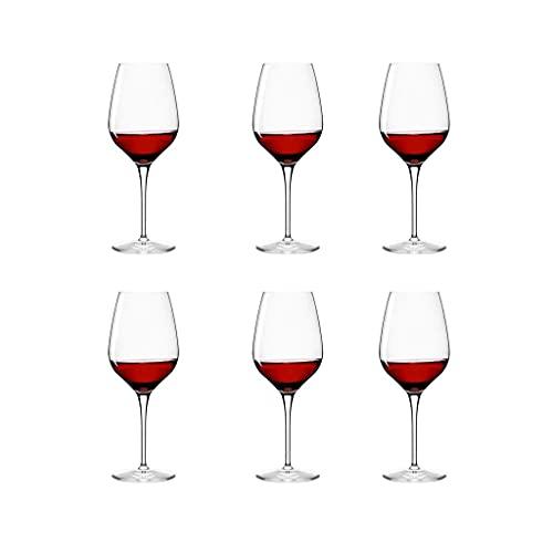 Copas de Vino exquisitas Copas de Vino Tinto de Cristal Conjunto de Copas de Vino Transparente de Vino de Tallo para el Aniversario de la Fiesta