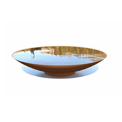 Adezz 60cm Corten Steel Water Bowl Feature/Garden Feature/Dish/Rust Finish