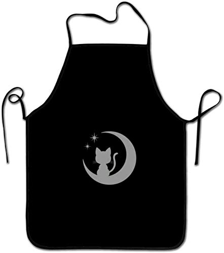 Agnes Carey Sailor Moon, Sailor Moon Luna Schürzen für Frauen/Männer Lätzchen Save-All Grill Waitress Attitude Chef Schürze Chef Baker Server Craftman Waiter