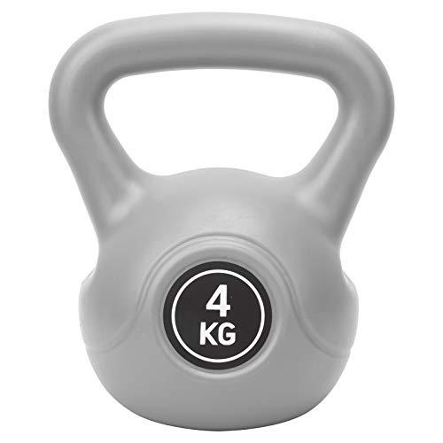 Asixxsix Pesa de Gimnasia, Equipo de Gimnasia 4KG, Pesa de Campana de hervidor Segura, práctica de Fitness para Fitness en el hogar, construcción de músculos, Tienda de Fitness(Gray)