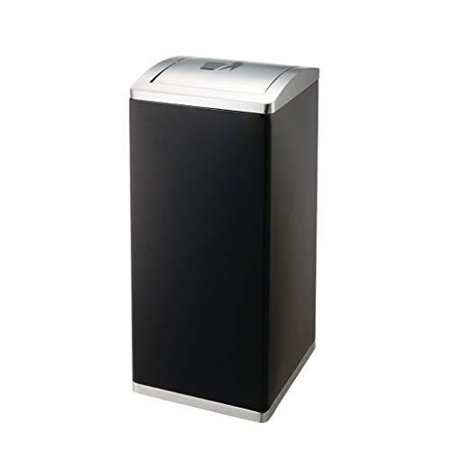 Cubos de Basura para Exterior Cubos de basura rectangulares de metal al aire libre 3 Clasificación Volteo Papelera Centro comercial Cubo de cáscara Reciclaje de residuos Contenedores de compost Cubos