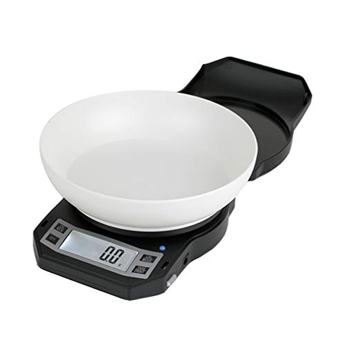 Precision Digital Kitchen Weight Scale, Food Measuring Scale, With Bowl 3kg x 0.1g (Black), LB-3000