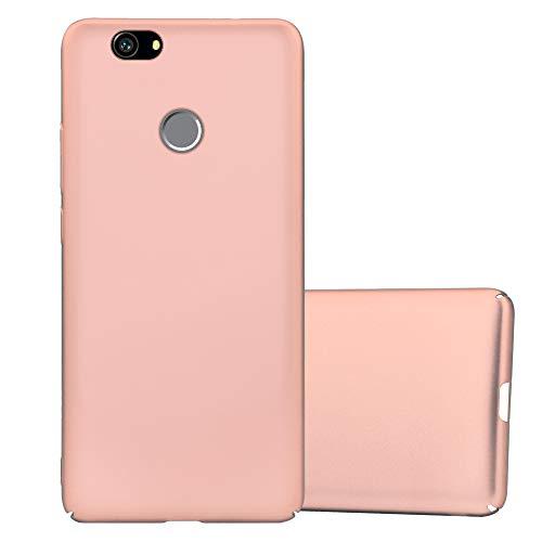 Cadorabo Custodia per Huawei Nova in Oro Rosa Metallo - Rigida Cover Protettiva Sottile con Bordo Protezione - Back Hard Case Ultra Slim Bumper Antiurto Guscio Plastica