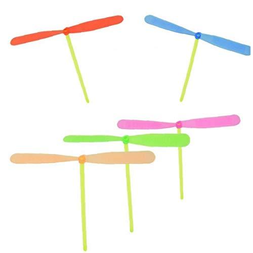 LAVALINK Tradición Plástica De Bambú De La Libélula De La Hélice del Bebé Niños De Juguete Aire Libre Clásico Nostálgico del Juguete Que Vuelan Flechas De Color Azar 10pcs