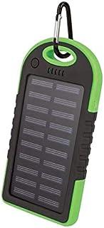Setty powerbank med solceller, 5000 mAh, Grön