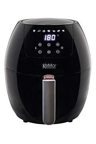 KeMar Kitchenware KHF-350 Heißluftfritteuse | Friteuse | Fritteuse | (3,5 Liter,1.500W) | Touchdisplay | BPA-frei | Ohne PTFE/PFOA