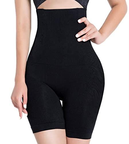 SOLO ACTFIT Femme Culotte Sculptante Minceur Gaine Amincissante Ventre Plat Taille Haute Panty Shapewear Respirant Abdominale Récupération (Noir, L)