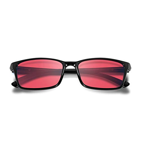 PILESTONE GM-2 farbenblinde gläser Color Blind Korrekturbrille für Rot/Grün Color Blind (Color Blind Brille) Starke Protan Rottöne