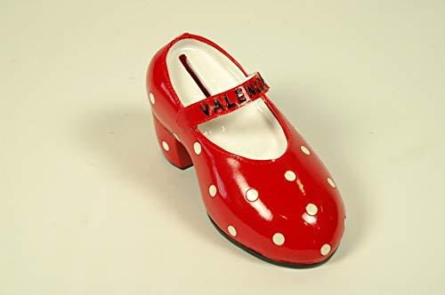 """Lote de 5 Huchas de Resina Decorativas""""Zapato Rojo-Valencia"""". Regalos Originales. Decoración Hogar.Detalles de Bodas, Comuniones, Bautizos, Cumpleaños. 8 x 15 x 6 cm. IB 9"""