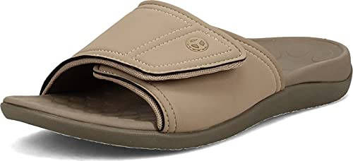 Orthaheel Men/Women Kiwi Slide In Orthopedic Sandals - Tan (Mens 10 Womens 11)