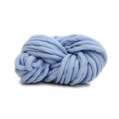 Heaviesk Dickes Garn Island Wolle Garn verdicken Woll Chunky Garn sperrige Roving Big Strickgarn DIY Handstricken Crochet10 Blau