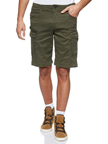 JACK & JONES Herren JJICHOP JJCARGO AKM 429 STS Shorts, Grün (Forest Night Forest Night), W(Herstellergröße:L)