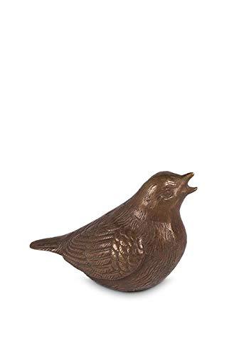 Bronzen mini urn 'Tjilpende vogel'