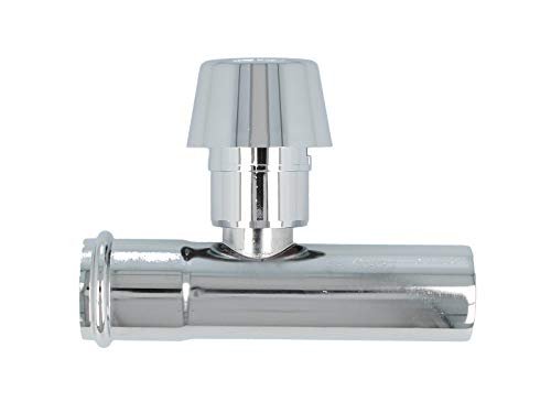 Verlängerungsrohr 125 mm mit Rohrbelüfter für Siphon Geruchsverschluss, verchromt