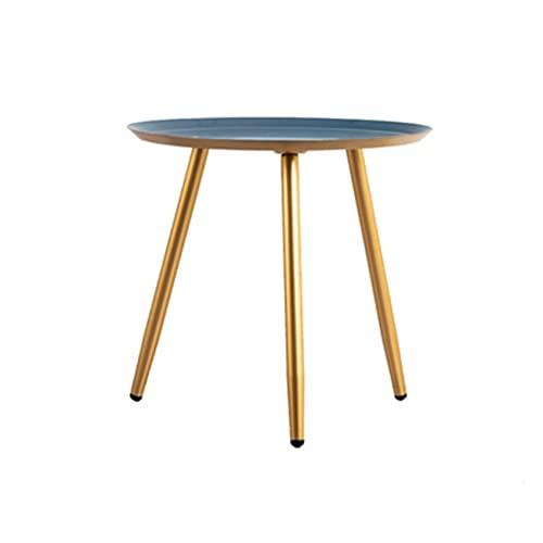 Jcnfa MESAS 45.5 cm Metal Pequeñas mesas Redondas Tablas de la Bandeja Mesa de Extremo Moderna Mesa Simple de café Anti-óxido,2 Colores,Anti-óxido e Impermeable Mesa de Aperitivos for Exteriores y al