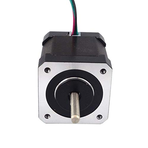 Printer Accessories Dual Shaft Nema17 Stepper Motor 4-Lead 48mm 59Ncm(83.78oz.in) 2A Nema 17 Step Motor for 3D Printer CNC XYZ 3D Printing Accessories