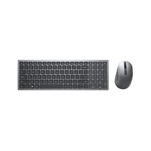 Dell KM7120W, Wireless, Multimedia, Tastatur und Maus Set, German (QWERTZ), schwarz