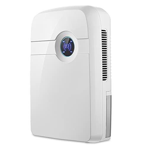 HXBH Deumidificatore 2500mL Deumidificatore portatile silenzioso con display umidità Timer 24 ore con telecomando per deumidificare 30 mq di spazio/bianca